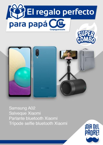 Imagen de Samsung A02 64gb + Salveque Xiaomi + Parlante Bluetooth Xiaomi + Tripode/Selfie Xiaomi