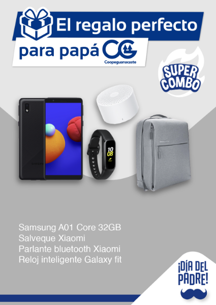 Imagen de Samsung A01 Core 32gb + Salveque Xiaomi + Parlante Bluetooth Xiaomi + Banda Galaxy Fit