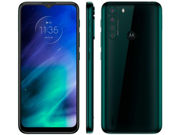 Imagen de Teléfono celular MOTOROLA one fusion XT2073-2 black esmerald 4+128GB dual sima